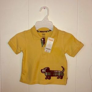 Gymboree Yellow Boys Polo Shirt 6-12mo
